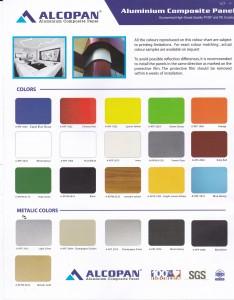Supplier Aluminium Composite Panel,Brosur Warna ACP