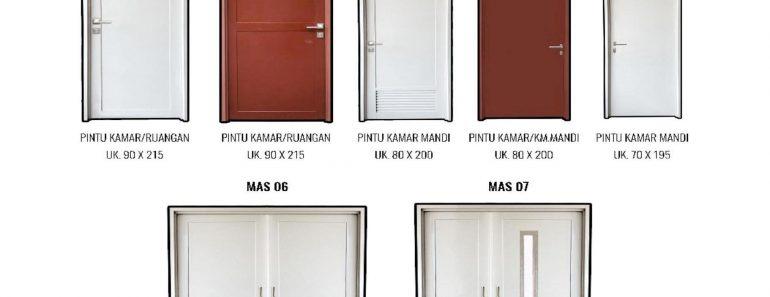 Tipe Produk Pintu Aluminium