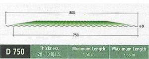 Atap Fumira D 750 – Atap zincalume