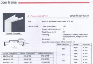 PINTU HDF ANGZDOOR DAN KUSEN, KUSEN METAL ANGZDOOR Metal frame ADF 03