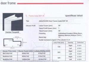 PINTU HDF ANGZDOOR DAN KUSEN, KUSEN METAL ANGZDOOR Metal frame ADF 05