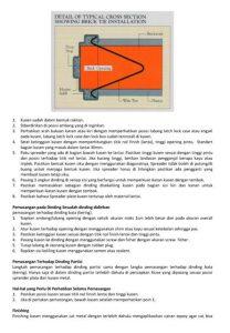 Pemasangan Kusen Metal